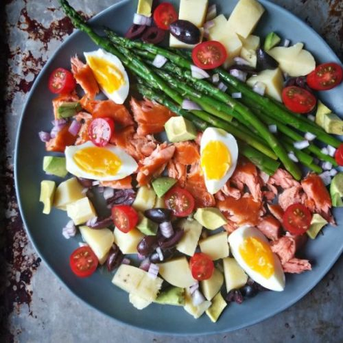 Smoked Salmon Spring Salad With Egg