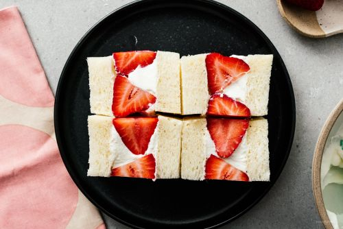 Japanese Fruit Sandwich: Strawberry Sando Recipe
