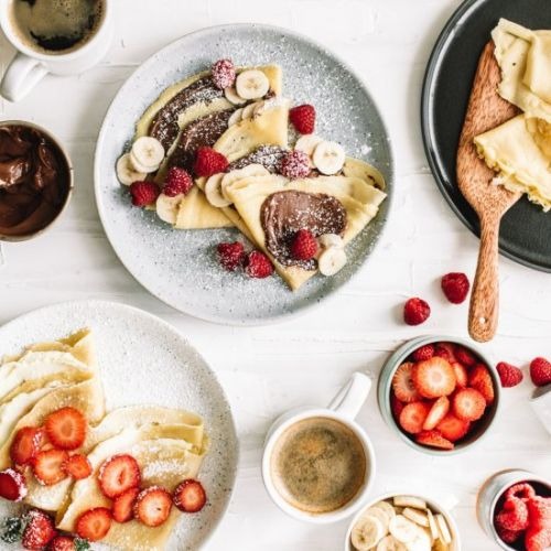 Crepes with Banana and Nutella
