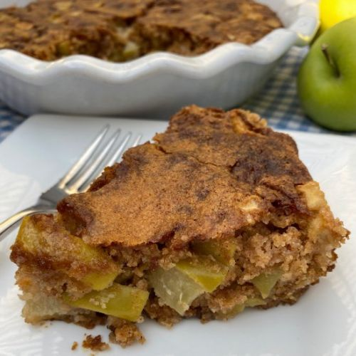 No-Peel Apple Cake