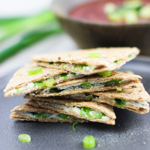 Scallion Cashew Cheese Quesadilla