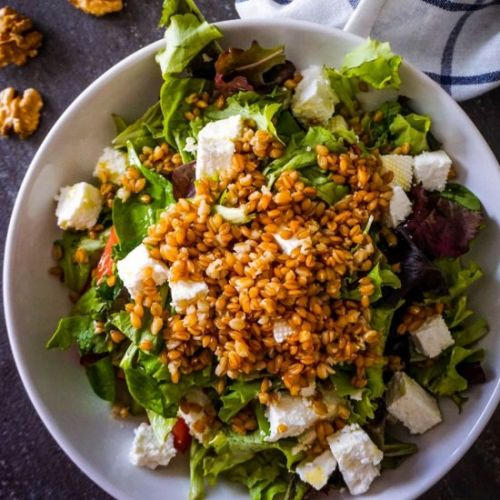 Mediterranean Farro salad with Feta