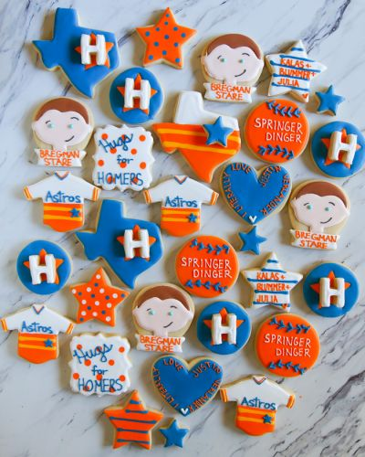 Houston Astros Decorated Cookies