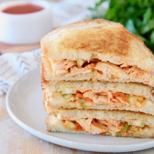 Buffalo Turkey Grilled Cheese