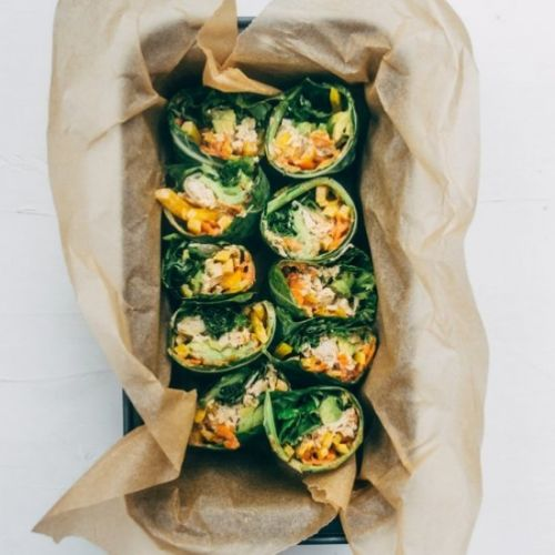 Thai Chicken Collard Wraps