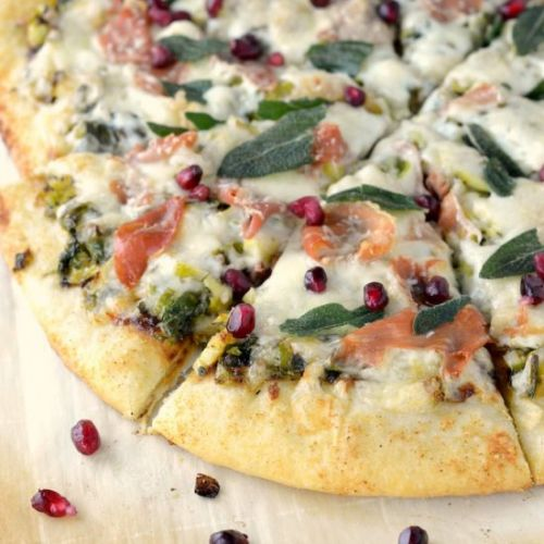 Charred Brussels Sprouts Pizza