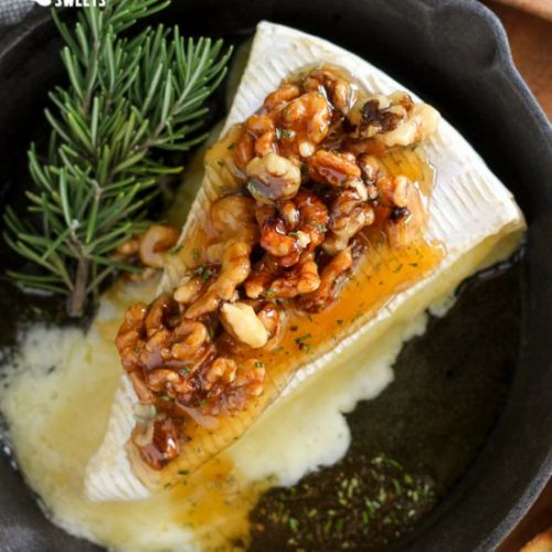 Baked Brie with Honey & Walnuts