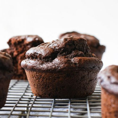 Fluffy Vegan Chocolate Muffins