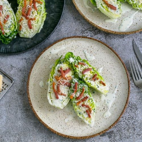 Cos salad with buttermilk dressing