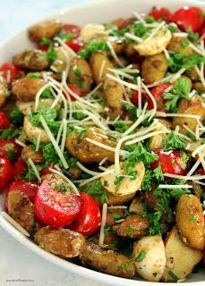 Roasted Pesto Potato Salad
