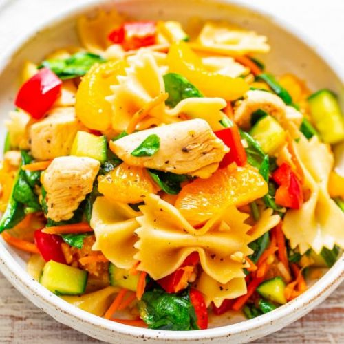 Mandarin Orange Chicken Pasta Salad