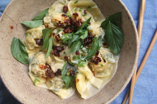 Chicken and Basil Wontons