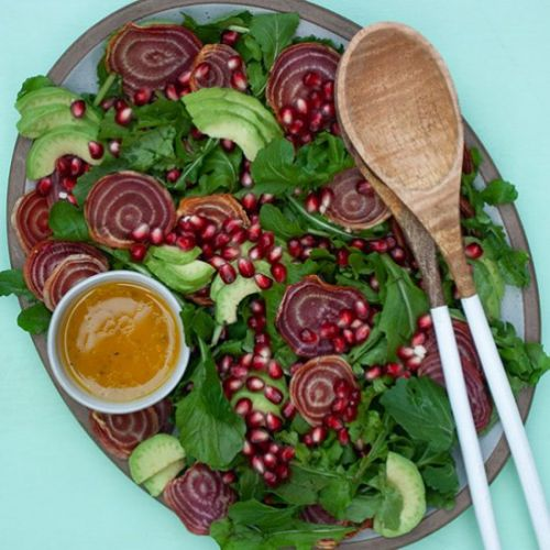 Candy Beet & Pomegranate Salad