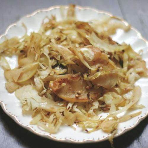 Sauteed Cabbage + Green Apple