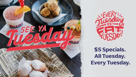 Laissez Les Bons Temps Rouler at Walk-On's Where Every Tuesday is Fat Tuesday