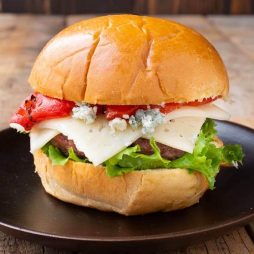 Red White & Blue Cheese Burger