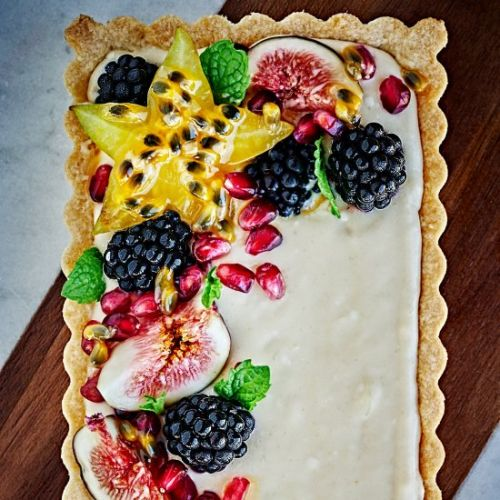 Lime Curd & Mascarpone Fruit Tart