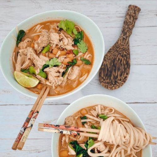 Mexican Thai Chicken Noodle Soup