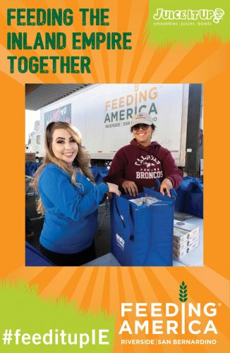 Juice It Up! Joins Feeding America Riverside | San Bernardino in the Fight to End Hunger