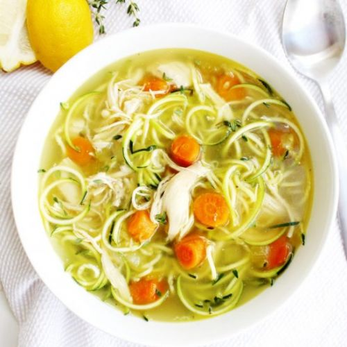 Instant Pot Chicken Zoodle Soup