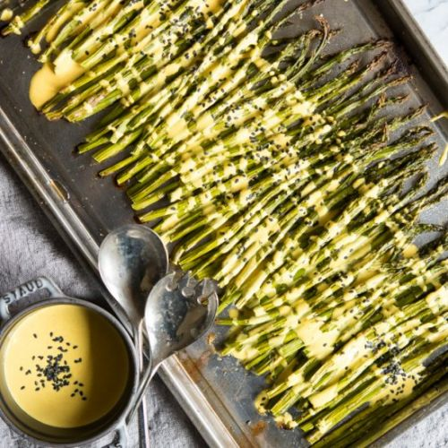 Roasted Asparagus with Lemon Sauce