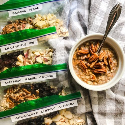 Healthy Homemade Oatmeal Packets