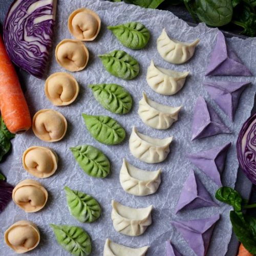 Colourful dumplings