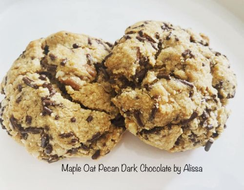 Maple Pecan Oat and Chocolate Cookies - Vegan ******++++***** Ahorn, Hafer, Pecan und Schokoladenkekse