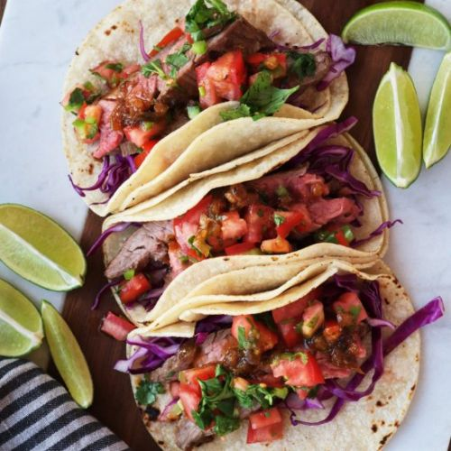 Sweet & Tangy Flank Steak Tacos