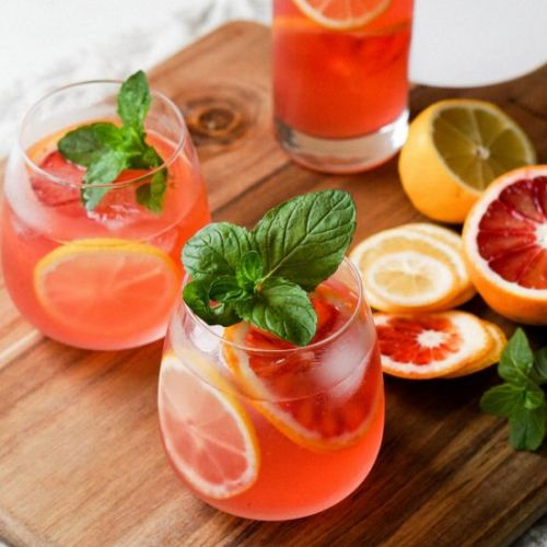 Blood Orange and Mint Lemonade