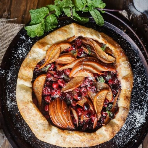 Spiced Cranberry Pear Galette