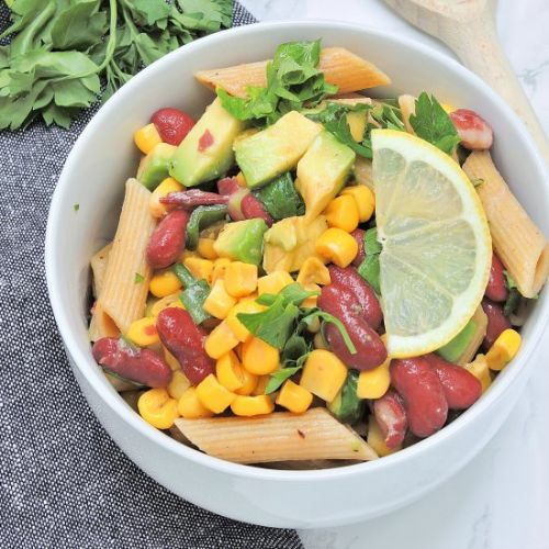 Mexican bowl with Beans and Corn