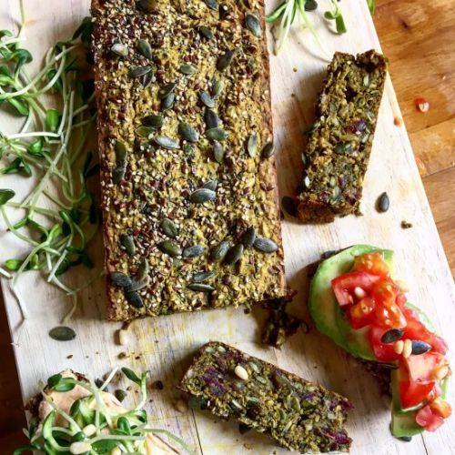 Buckwheat bread with dates & seeds