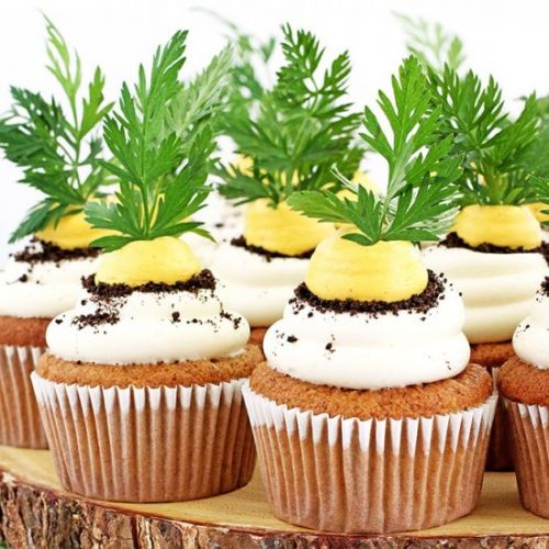 Carrot Cupcakes with Greek Yogurt