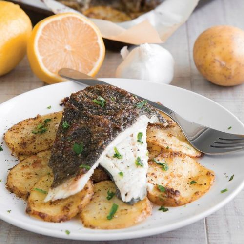 FRENCH BAKED TURBOT WITH POTATOES