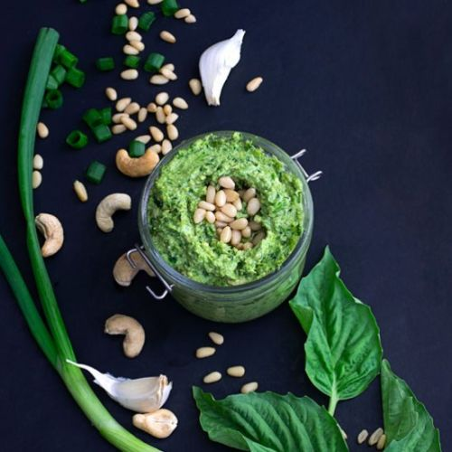 Vegan Pesto with Scallions