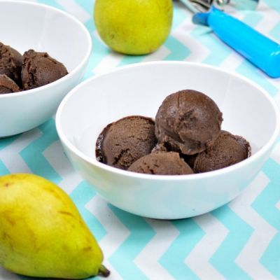 Chocolate-Pear Sorbet