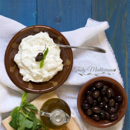 Labneh with garlic & mint