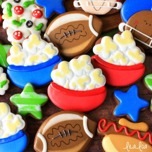 How To Make Decorated Popcorn Bowl Sugar Cookies