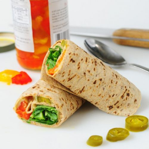 Hummus and Pickled Pepper Wraps