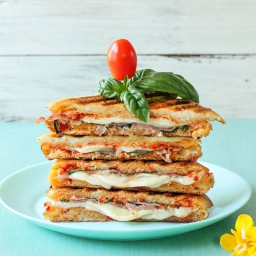 Sun-Dried Tomato Butter Paninis