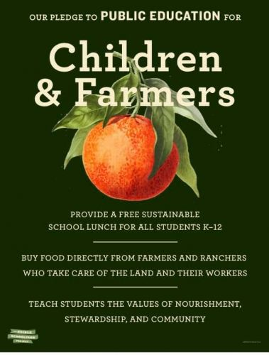 Free, Sustainable School Lunch for All, a Pledge from Alice Waters