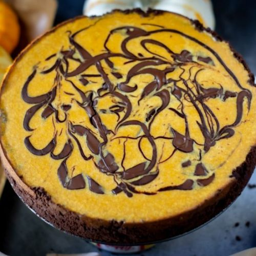 Dark Chocolate Pumpkin Cheesecake