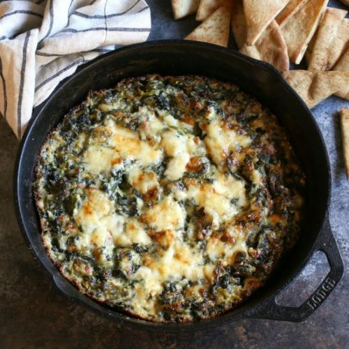 Baked Three Cheese Spinach Dip