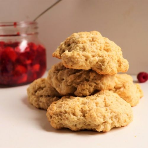 Scones with Raspberry Apple Compote