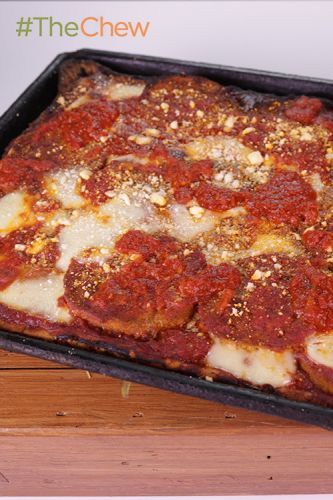 Eggplant Pizza with Sicilian Crust by Francis Garcia & Sal
