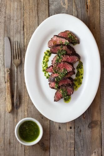 Hanger Steak with Salsa Verde