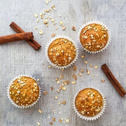 Dairy Free Carrot Oat Muffins