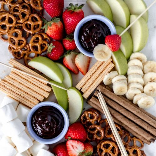 Dessert Board with Chocolate Dip