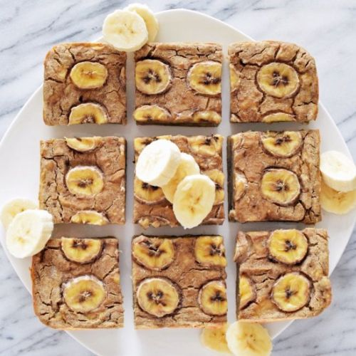 Vegan Banana Gooey Bars